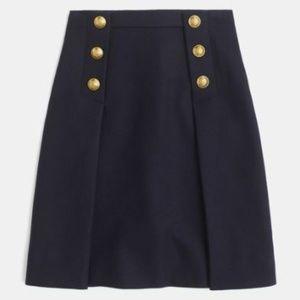 J.Crew Sailor skirt in double-serge wool (Navy)